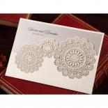 Rustic Lace Pocket engagement invitation card design