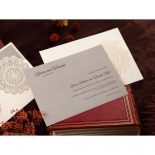 Rustic Lace Pocket engagement party invite card