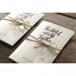 Rustic Woodlands engagement card