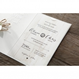 Rustic Woodlands engagement party invitation card