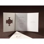 Vintage Elegance engagement invite card