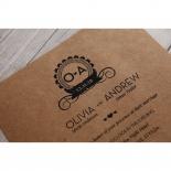 Blissfully Rustic  Laser Cut Wrap engagement invitation design