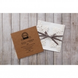 Blissfully Rustic  Laser Cut Wrap engagement party card design