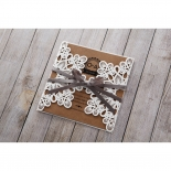 Blissfully Rustic  Laser Cut Wrap engagement party invite