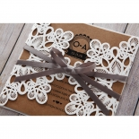 Blissfully Rustic  Laser Cut Wrap engagement party invite design
