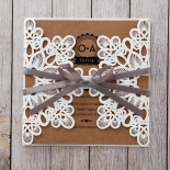 Blissfully Rustic  Laser Cut Wrap engagement party invitation card design