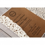 Countryside Chic engagement invite card