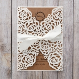 Countryside Chic engagement party invite card design