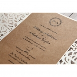 Countryside Chic engagement card design