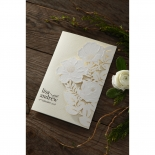 Elegant Floral Laser Cut engagement invite card