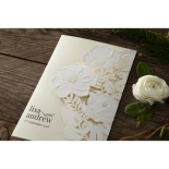 Elegant Floral Laser Cut engagement invite card design