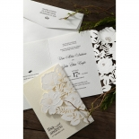 Elegant Floral Laser Cut engagement party card