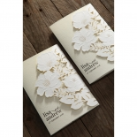 Elegant Floral Laser Cut engagement party card design