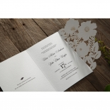 Elegant Floral Laser Cut engagement party invite card