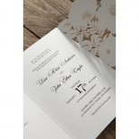 Elegant Floral Laser Cut engagement party invite card design