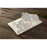 Elegant Floral Laser Cut engagement party invitation card