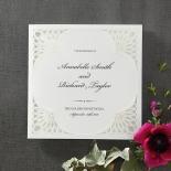 Framed Elegance engagement invite card design