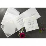 Framed Elegance engagement party card design