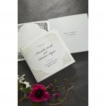 Framed Elegance engagement party invite card