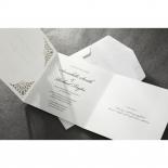 Framed Elegance engagement party invite card design