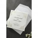 Framed Elegance engagement party invitation card