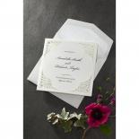 Framed Elegance engagement party invitation card design