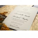 Golden Charisma engagement party card design