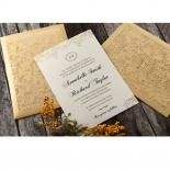 Golden Charisma engagement party invite