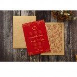 Golden Charisma engagement party invite design