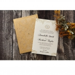Golden Charisma engagement party invitation card design