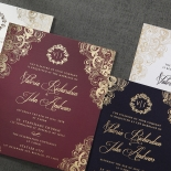 Imperial Glamour engagement invitation