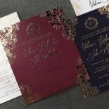Imperial Glamour engagement invitation design