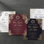 Imperial Glamour engagement party card design