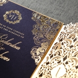Imperial Glamour engagement party invite card design