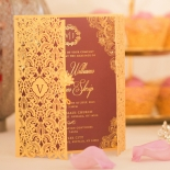 Imperial Glamour engagement card