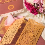 Imperial Glamour engagement party invitation