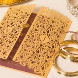 Imperial Glamour engagement party invitation card