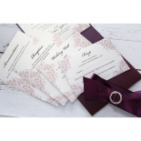 Jewelled Elegance engagement party invite card