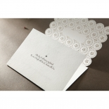 Laser Cut Button engagement party invite card