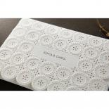 Laser Cut Button engagement party invitation