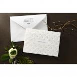 Laser Cut Button engagement party invitation card design