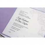 Romantic Rose Pocket engagement invitation card