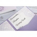Romantic Rose Pocket engagement invitation card design