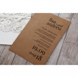 Rustic Romance Laser Cut Sleeve engagement party card