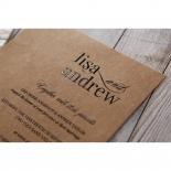 Rustic Romance Laser Cut Sleeve engagement party card design