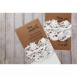 Rustic Romance Laser Cut Sleeve engagement party invite card
