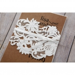 Rustic Romance Laser Cut Sleeve engagement party invitation card