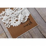 Rustic Romance Laser Cut Sleeve engagement party invite