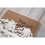 Rustic Romance Laser Cut Sleeve engagement party invitation card design