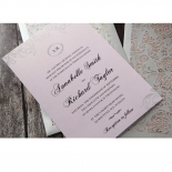Silvery Charisma engagement party invite design